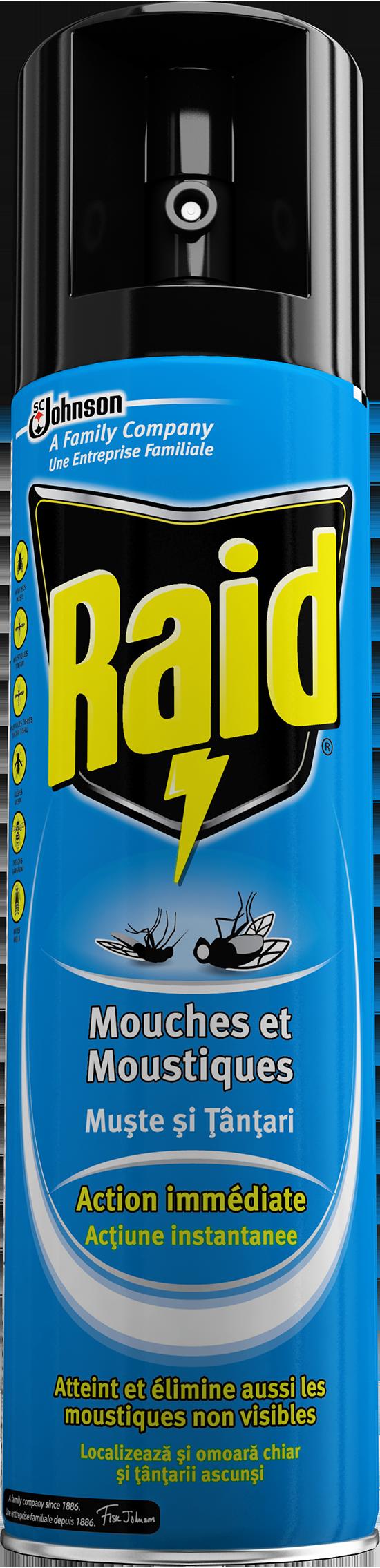 Raid a rosol anti mouches et moustiques - Raid anti moustique ...